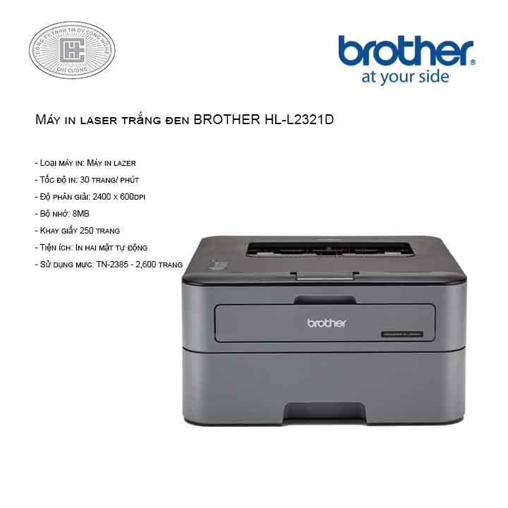 Máy in brother HL-L2321D (2 mặt)