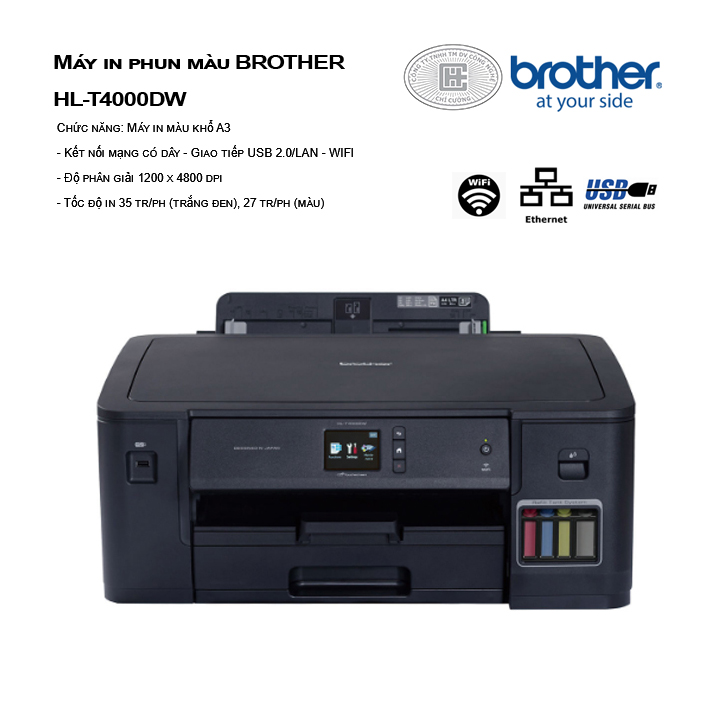 Máy in phun màu BROTHER HL-T4000DW