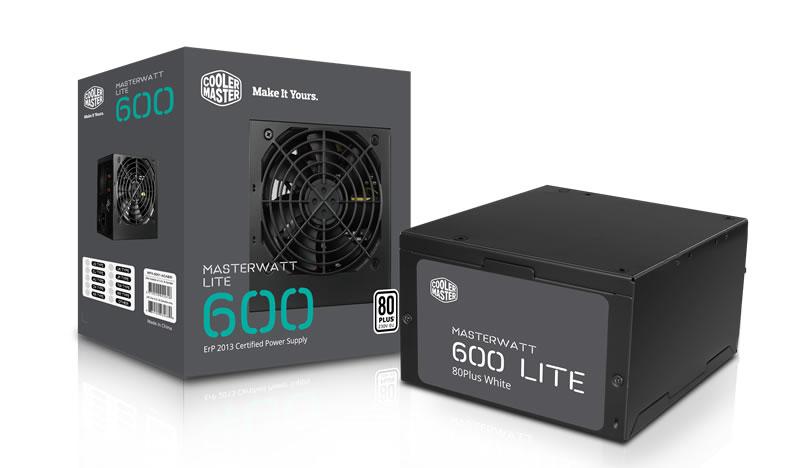 Nguồn Cooler Master MASTERWATT LITE 600W chuẩn 80 Plus WHITE