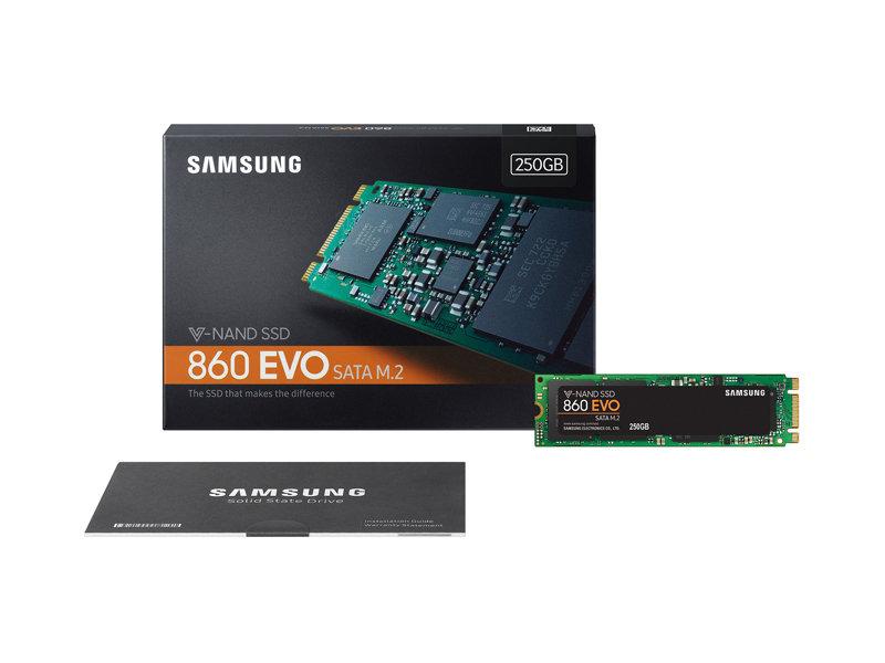 SSD Samsung 860 EVO 250GB M.2 2280 - MZ-N6E250BW