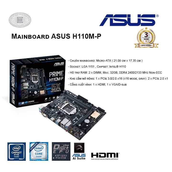 Mainboard ASUS H110M-P