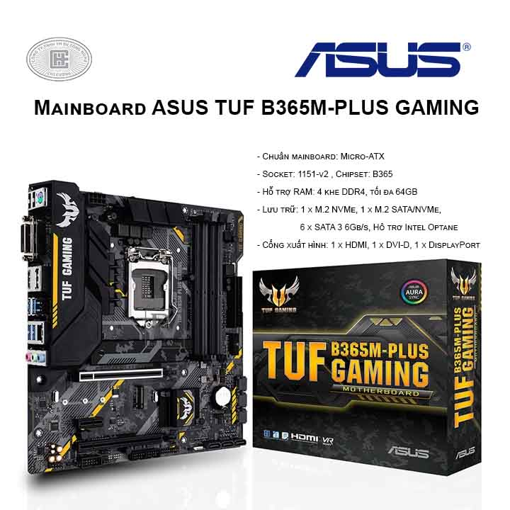 Mainboard ASUS TUF B365M-PLUS GAMING