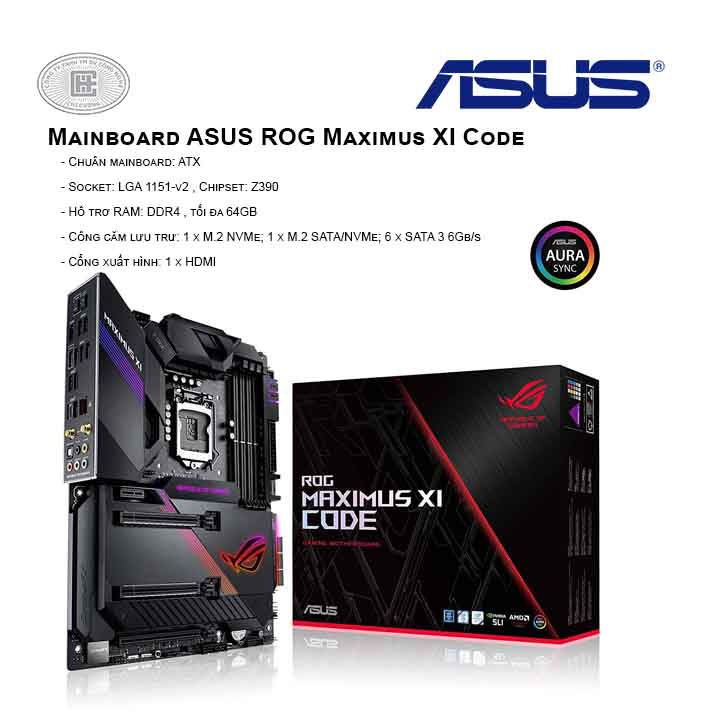 Mainboard ASUS ROG Maximus XI Code