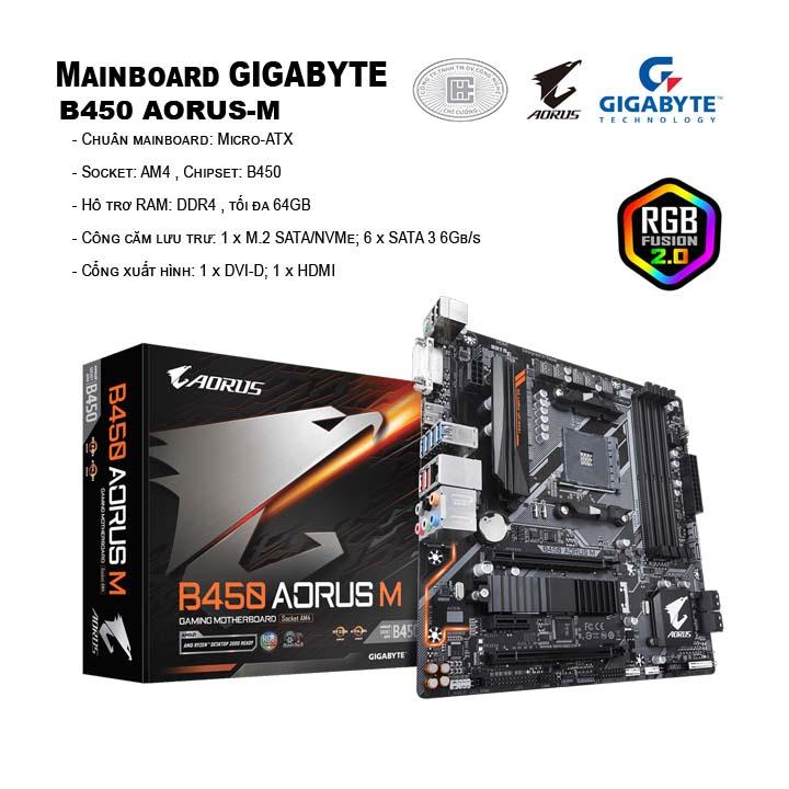 Mainboard Gigabyte B450 AORUS-M