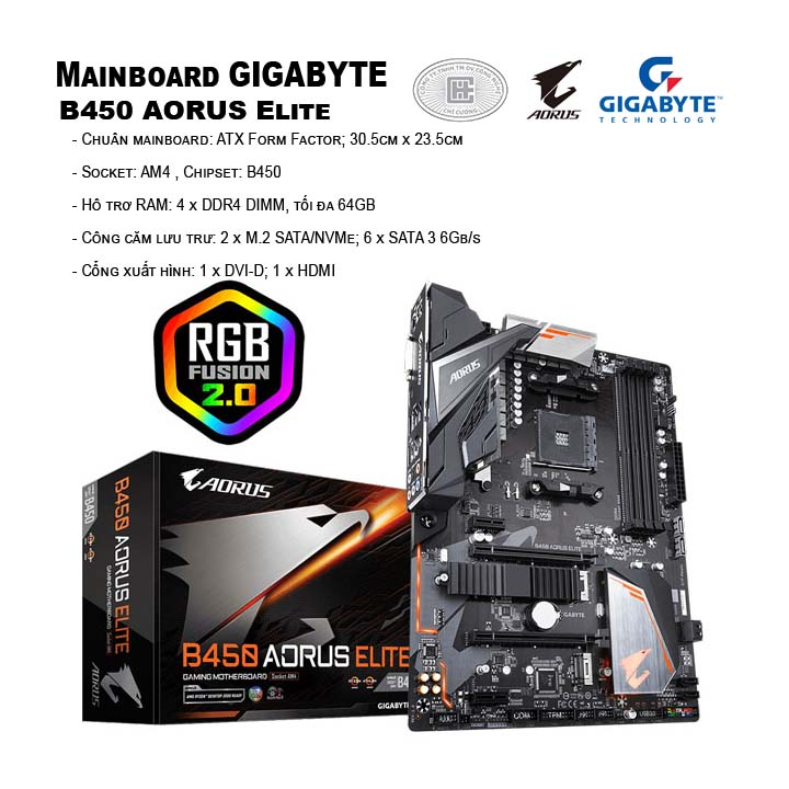 Mainboard Gigabyte GA-B450 AORUS Elite