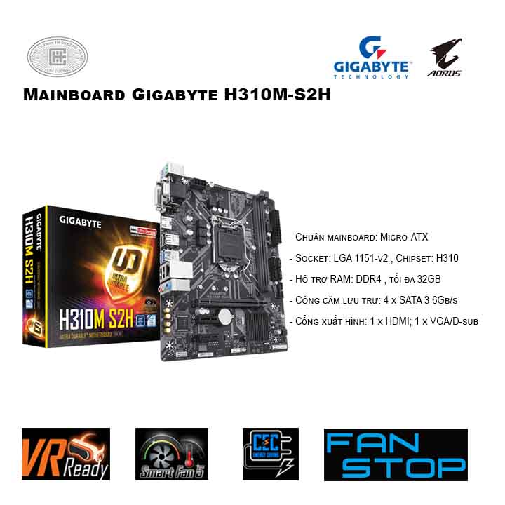 Mainboard Gigabyte H310M-S2H