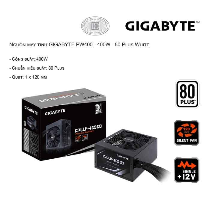 Nguồn máy tính GIGABYTE PW400 - 400W - 80 Plus White