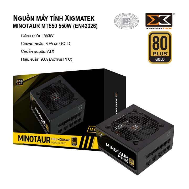 Nguồn máy tính XIGMATEK MINOTAUR MT550 EN42326 80PLUS GOLD