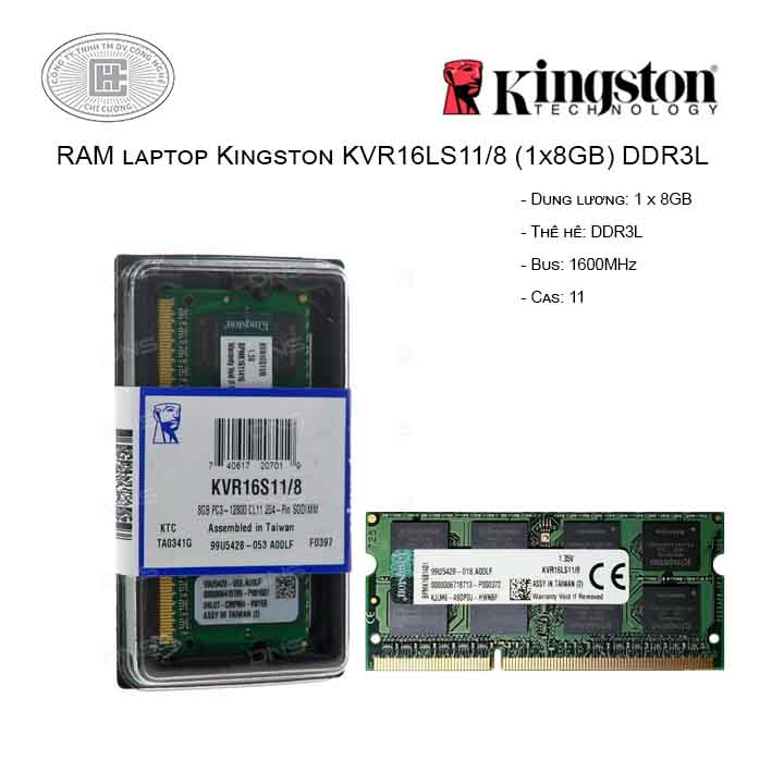 RAM laptop Kingston KVR16LS11/8 (1x8GB) DDR3L 1600MHz