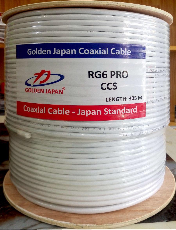 Cáp camera RG6 Pro GOLDEN JAPAN