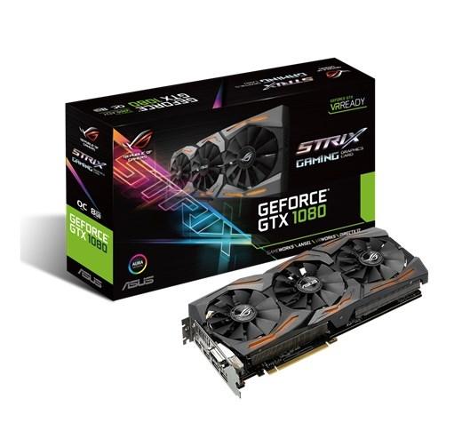 VGA Asus ROG STRIX GTX1080 A8G 11GBPS - VR Ready AURA