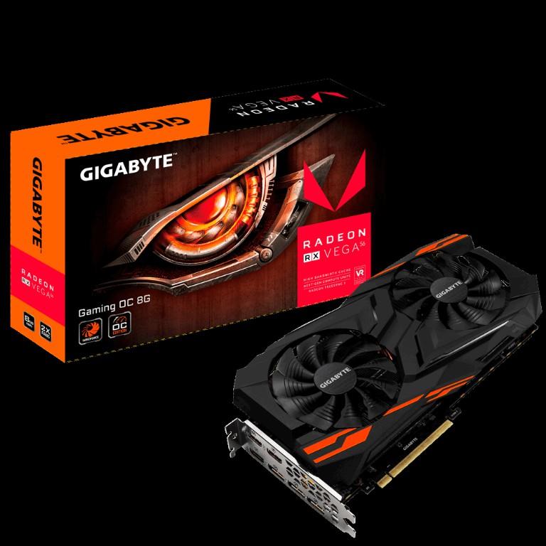 Card màn hình VGA Gigabyte Radeon RX VEGA 56 GAMING OC 8G (GV-RXVEGA56GAMING OC-8GD)