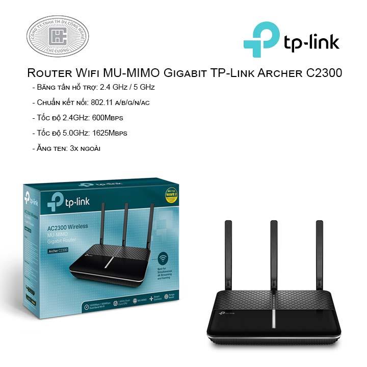 Router Wi-Fi MU-MIMO Gigabit  Băng tần kép AC2300 Archer C2300