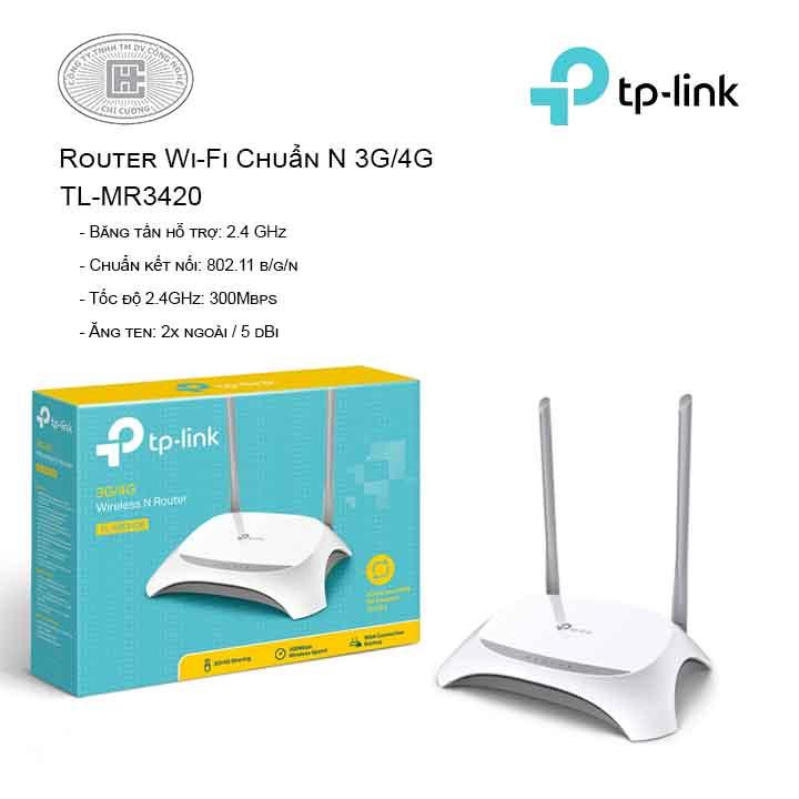 Router Wi-Fi Chuẩn N 3G/4G TL-MR3420