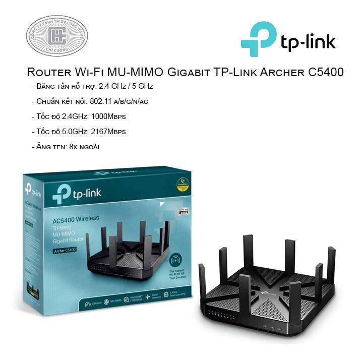 Router Wi-Fi MU-MIMO Gigabit TP-Link Archer C5400