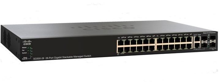 CISCO SG500-28-K9-G5 Gigabit MANAGED SWITCH L2/L3 - 24 PORT