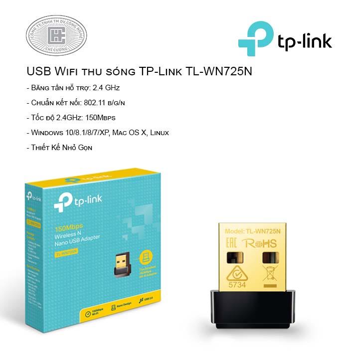 USB Wifi thu sóng TP-Link TL-WN725N