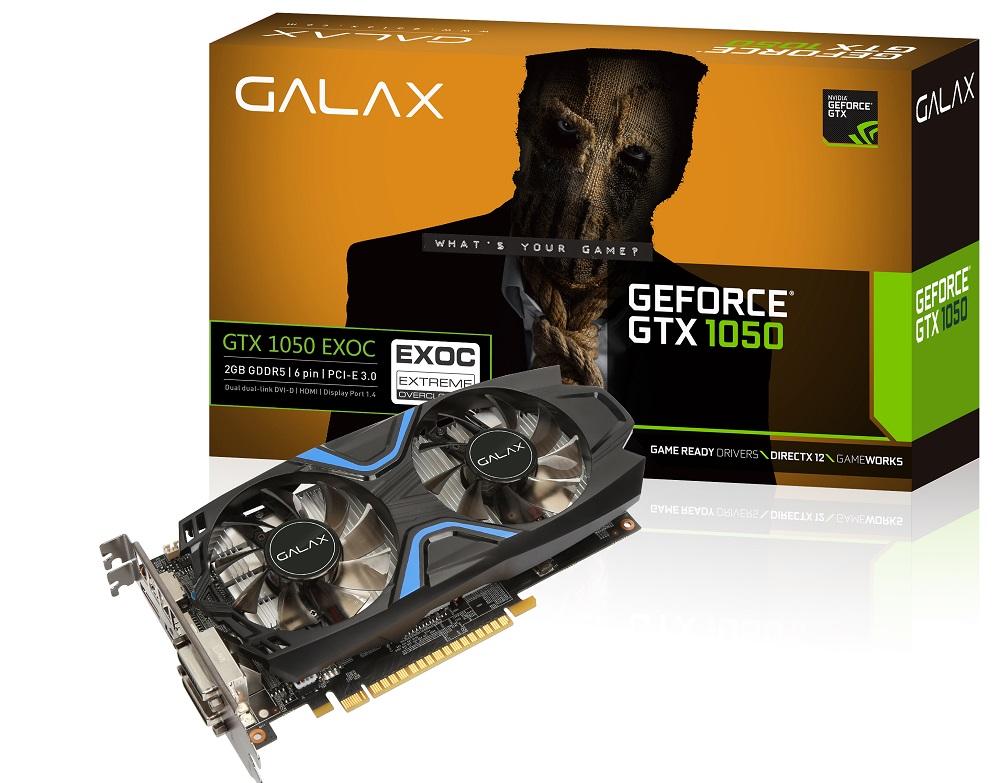 VGA GALAX GTX 1050 EXOC 2G 2 FAN