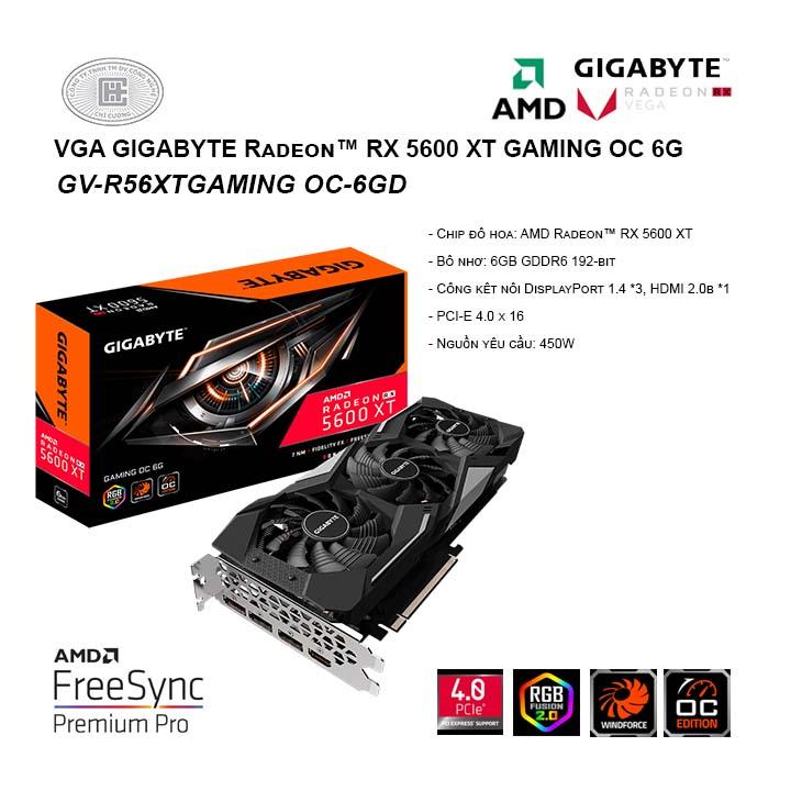 Card màn hình / VGA GIGABYTE Radeon RX 5600 XT GAMING OC 6G ( GV-R56XTGAMING OC-6GD )