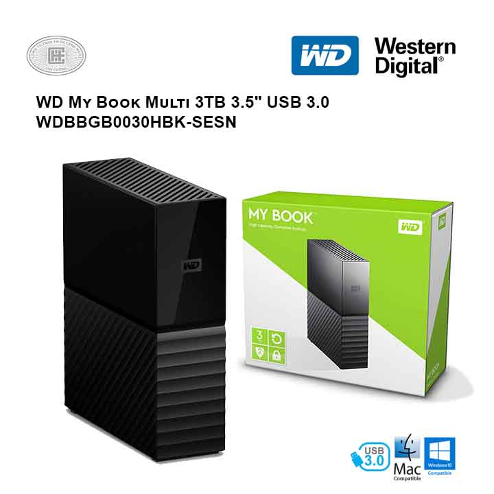 Ổ cứng di động HDD Western Digital My Book Multi 3TB 3.5