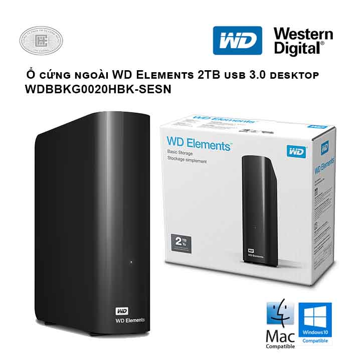 Ổ cứng di động HDD Western Digital Elements Desktop 2TB 3.5