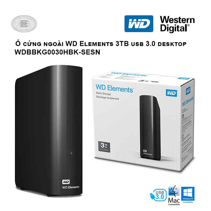 Ổ cứng di động HDD Western Digital Elements Desktop 3TB 3.5