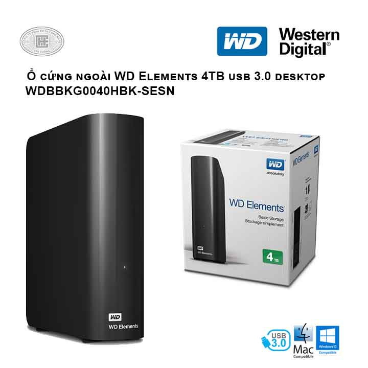 Ổ cứng di động HDD Western Digital Elements Desktop 4TB 3.5