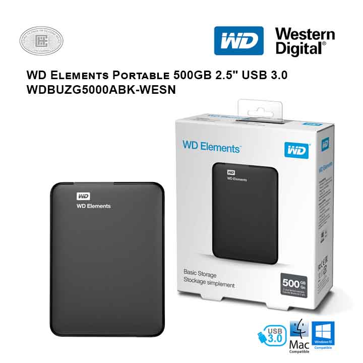 Ổ cứng di động HDD Western Digital Elements Portable 500GB 2.5