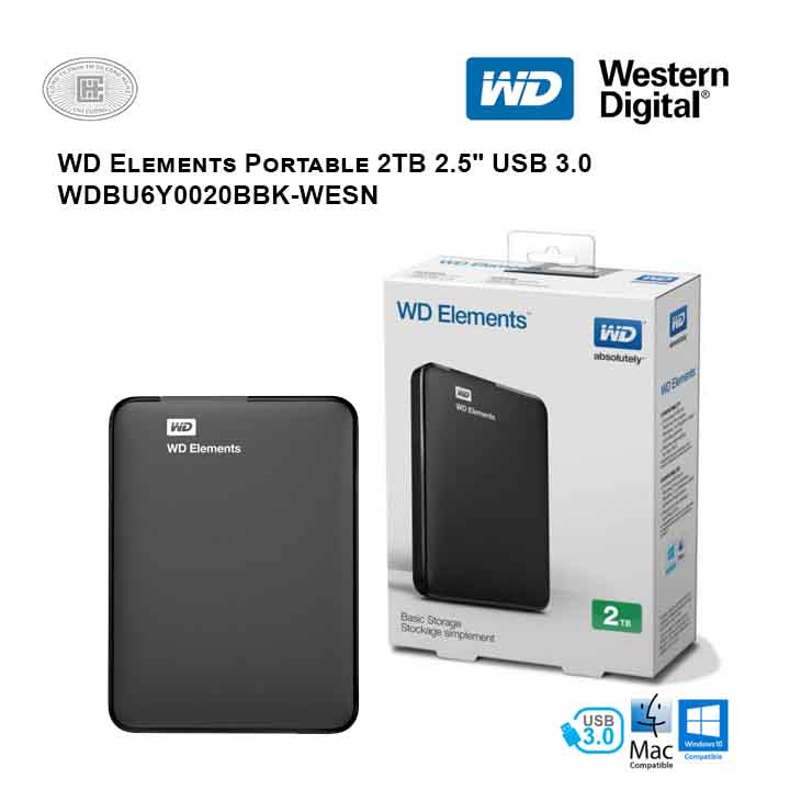 Ổ cứng di động HDD Western Digital Elements Portable 2TB 2.5