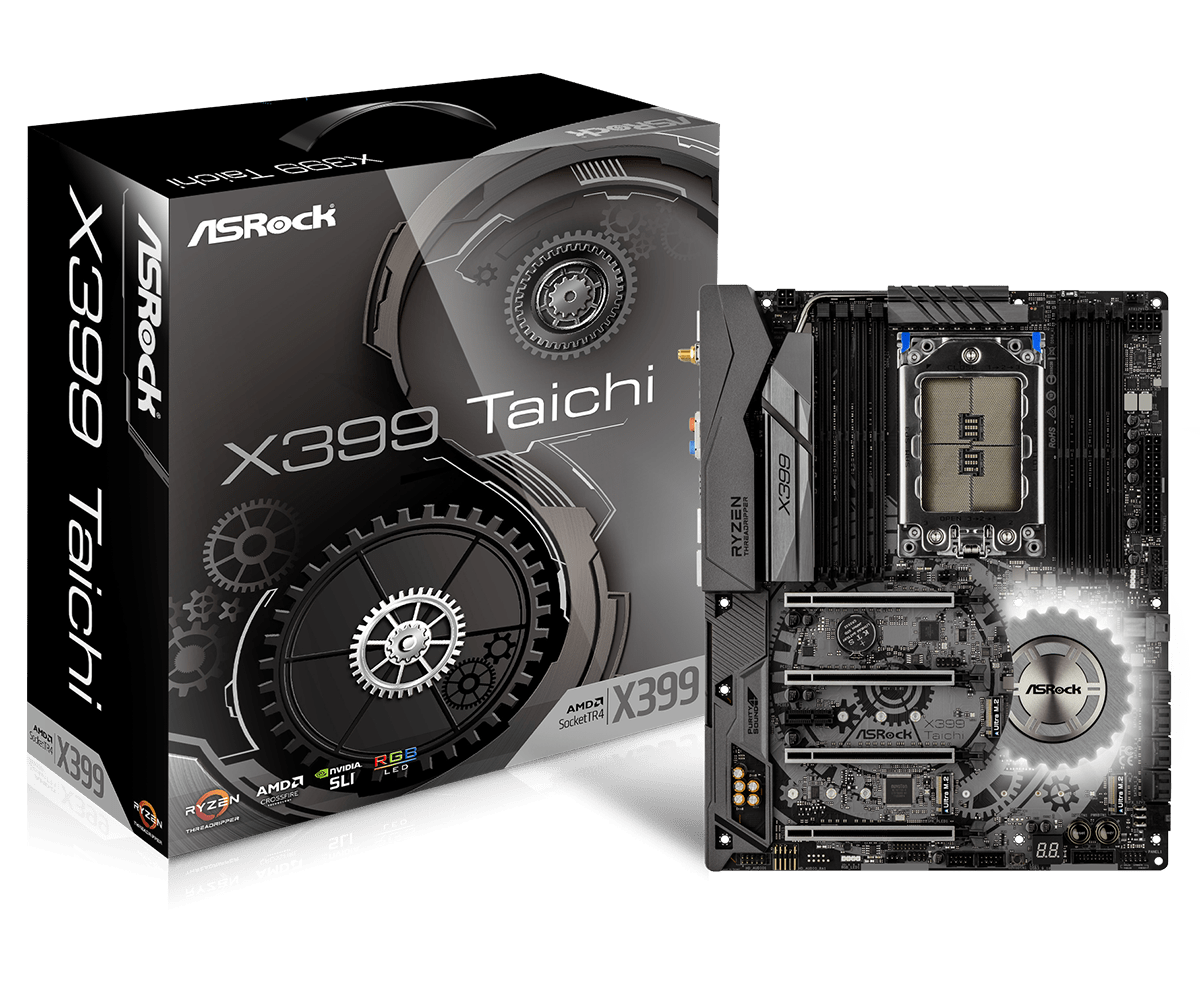 Main ASrock X399 TAICHI TR4 Socket Ryzen Threadripper Series