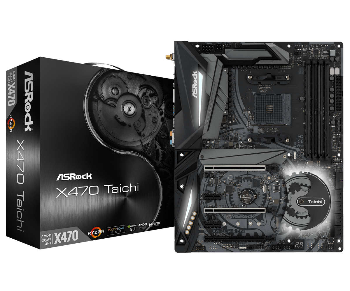 Main ASrock X470 Taichi AMD AM4 Socket Ryzen Series