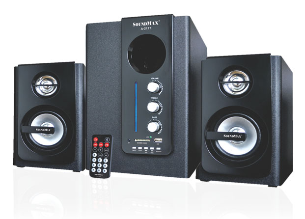 Loa Soundmax A 2117/2.1 kênh, USB, Thẻ nhớ, Remote