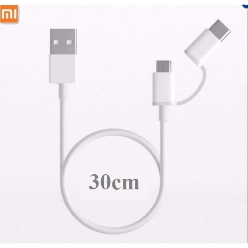 CÁP SẠC XIAOMI MI 2-IN-1 USB CABLE MICRO (30CM)-SJV4083TY