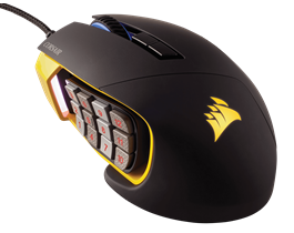 CHUỘT MÁY TÍNH CORSAIR - Scimitar RGB Pro Yellow - CH-9304011-AP - GAMING GEAR