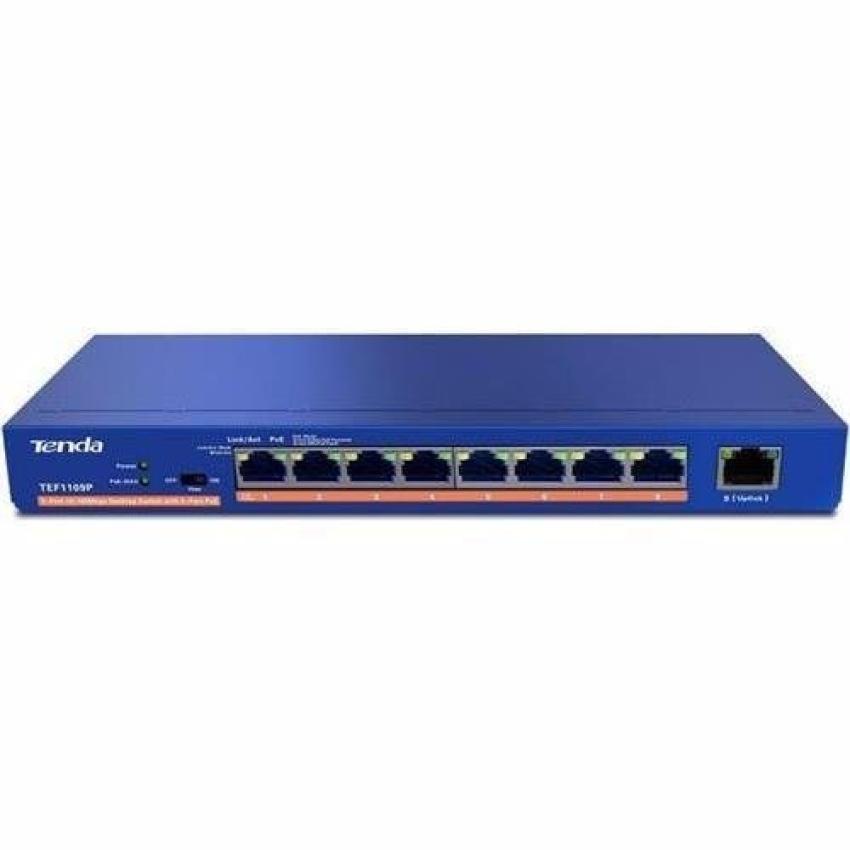 Thiết bị chia mạng 9 cổng LAN 10/100Mbps - với 8 cổng PoE TENDA TEF1109P