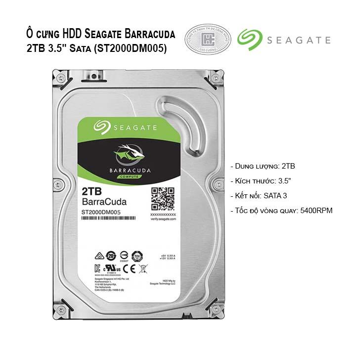 Ổ cứng HDD Seagate BARRACUDA 2TB 3.5