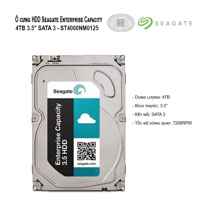 HDD SEAGATE ENTERPRISE CAPACITY 4TB SAS 3.5 - ST4000NM0125