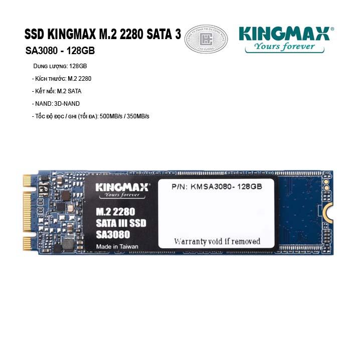 Ổ cứng SSD KINGMAX 128GB M.2 2280 SATA 3 - SA3080