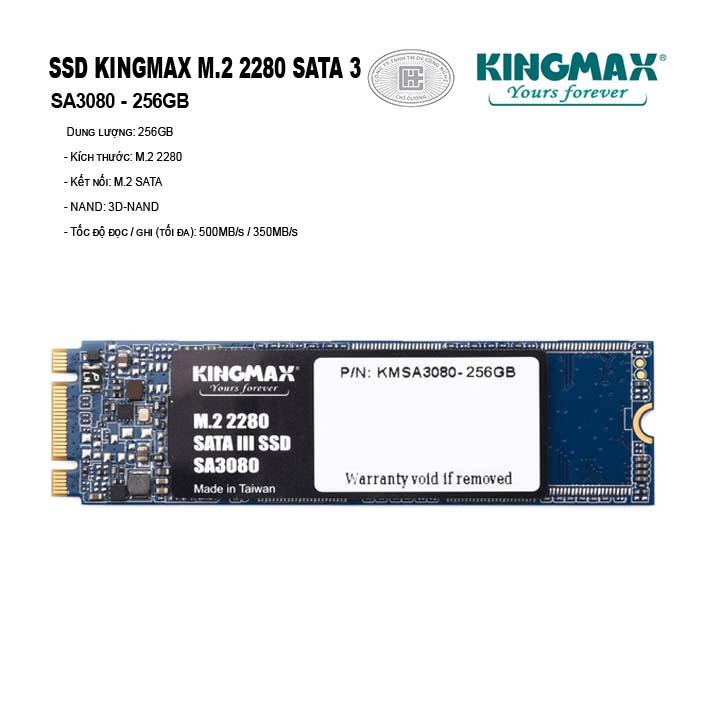 Ổ cứng SSD KINGMAX 256GB M.2 2280 SATA 3 - SA3080