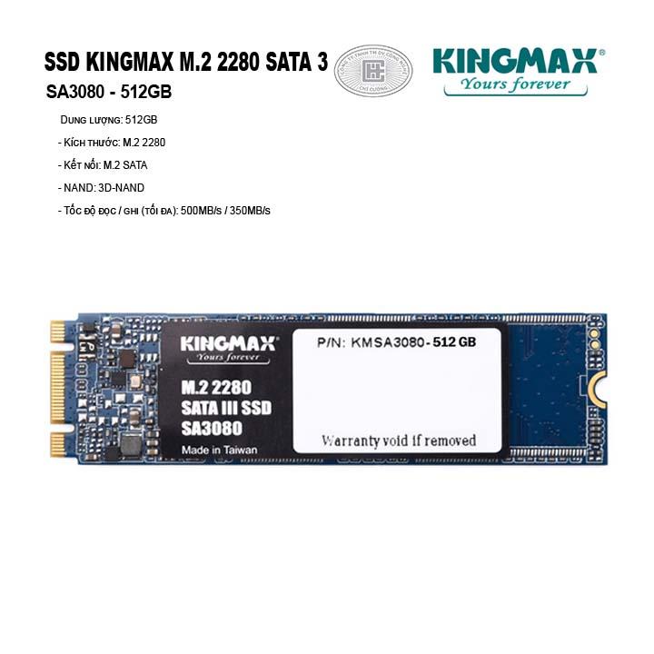 Ổ cứng SSD KINGMAX 512GB M.2 2280 SATA 3 - SA3080