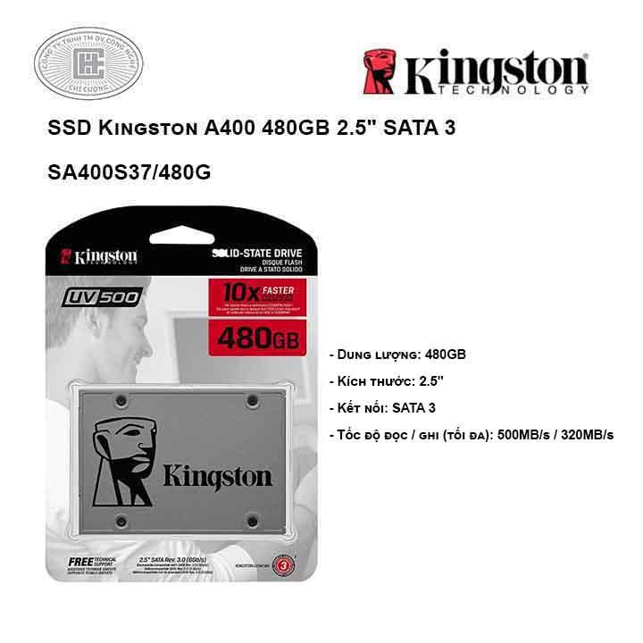 Ổ cứng SSD Kingston A400 480GB 2.5