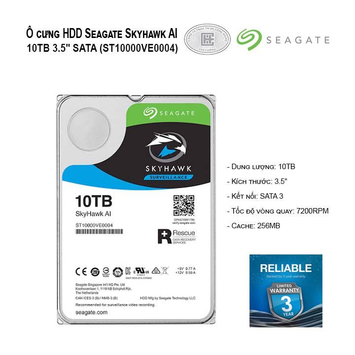 Ổ cứng HDD Seagate Skyhawk AI 10TB 3.5