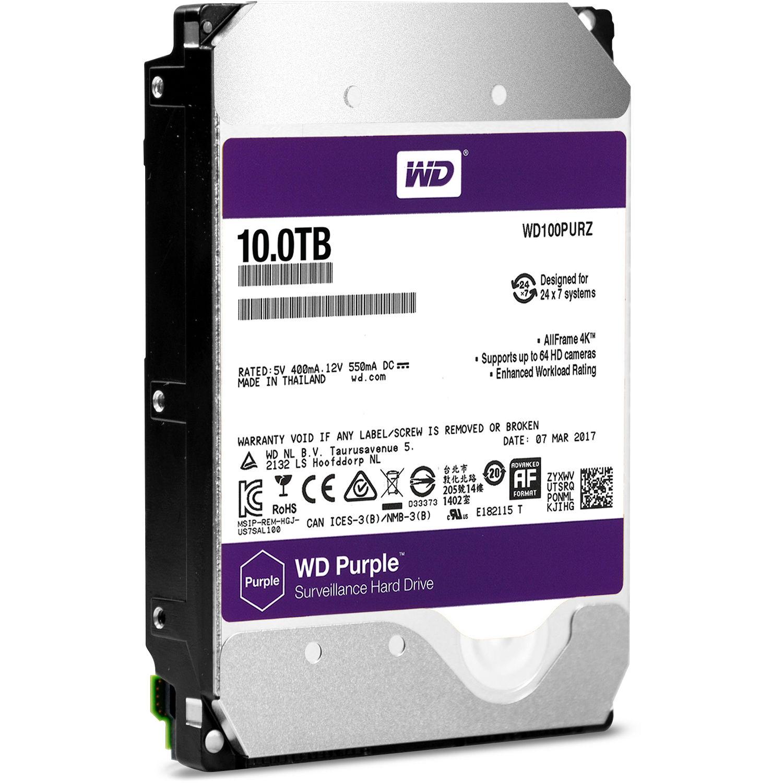Ổ CỨNG WD - Purple 10TB  WD100PURZ TÍM