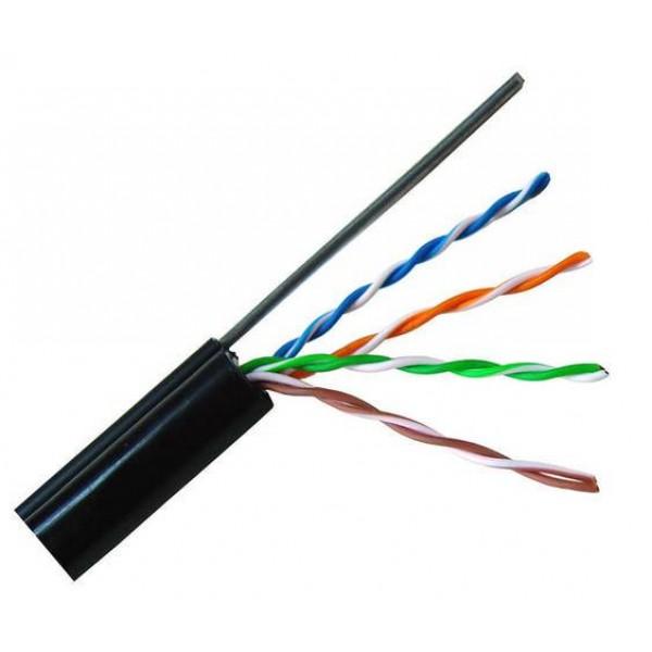 DINTEK - Cáp mạng treo ngoài trời - CAT.5e, 305M, thép gia cường dùng treo móc. - 1101-03011A
