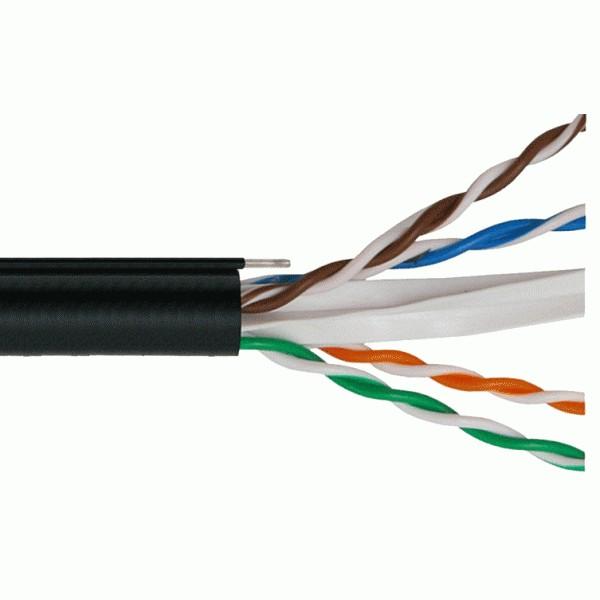 DINTEK - Cáp mạng treo ngoài trời - CAT.6, 305M, thép gia cường dùng treo móc.