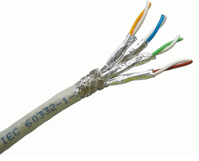 CAT.6A S-FTP , 4 pair for 10GB application, 23 AWG, 305m trên rulo nhưa, Bọc nhôm chống nhiễu từng đôi, bọc thêm lưới đồng ở ngoài - màu xám. - 1105-06001A