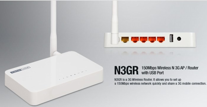 Router Wireless hỗ trợ USB 3G