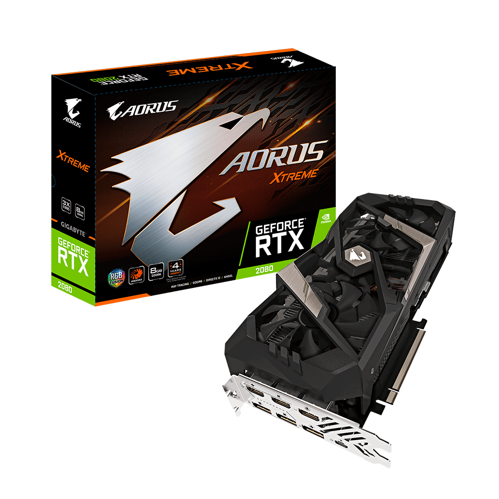 VGA GIGABYTE AORUS GeForce® RTX 2080 XTREME 8G