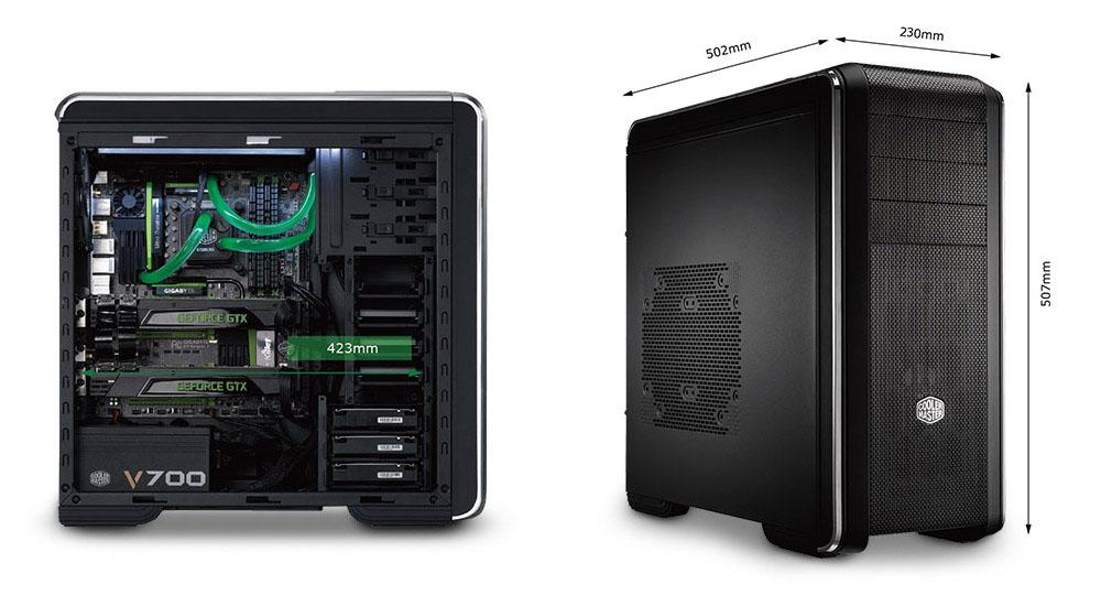 CASE cooler master 690 III - WINDOW