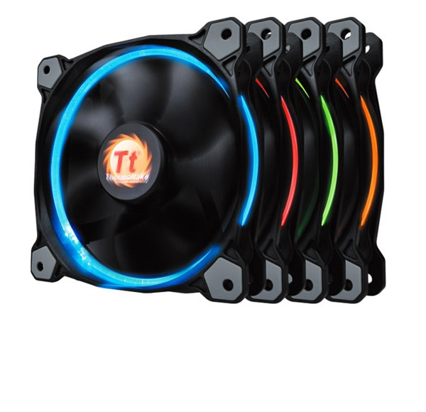 Quạt tản nhiệt THERMALTAKE New Riing 12 LED Radiator Fan 256 Color/Fan/12025/1500rpm/LED Switch/MB Sync